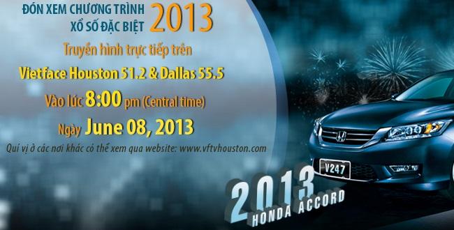 Chương trình xổ số đặc biệt 2013